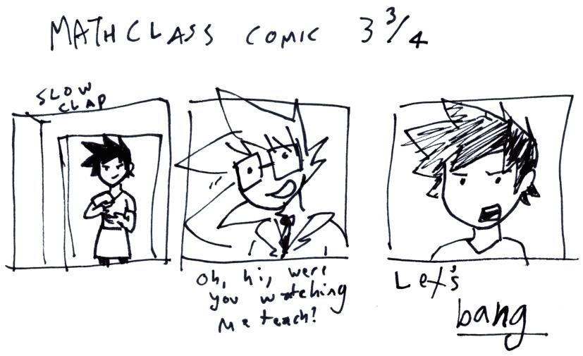 Math Class Comic 3³⁄₄