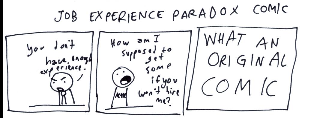 Job Experience Paradox Comic