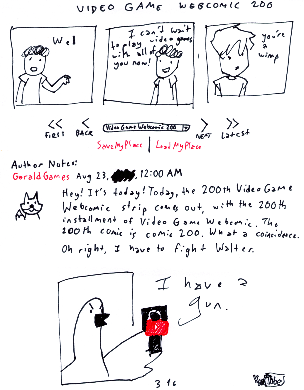 Video Game Webcomic 200